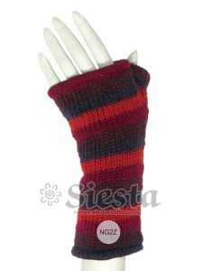 Hippy Gloves~Funky Hippy Red Mix Arm Warmers/Tube Gloves~Fair Trade by Folio Gothic Hippy~NG2Z